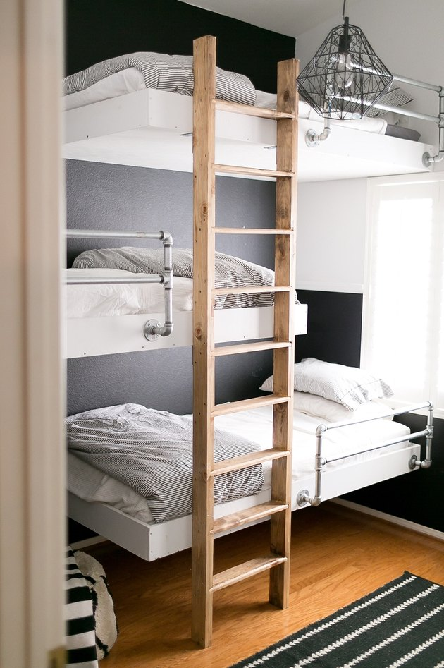 industrial bedroom with bunk beds