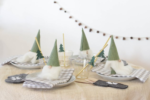 DIY kids Christmas place setting
