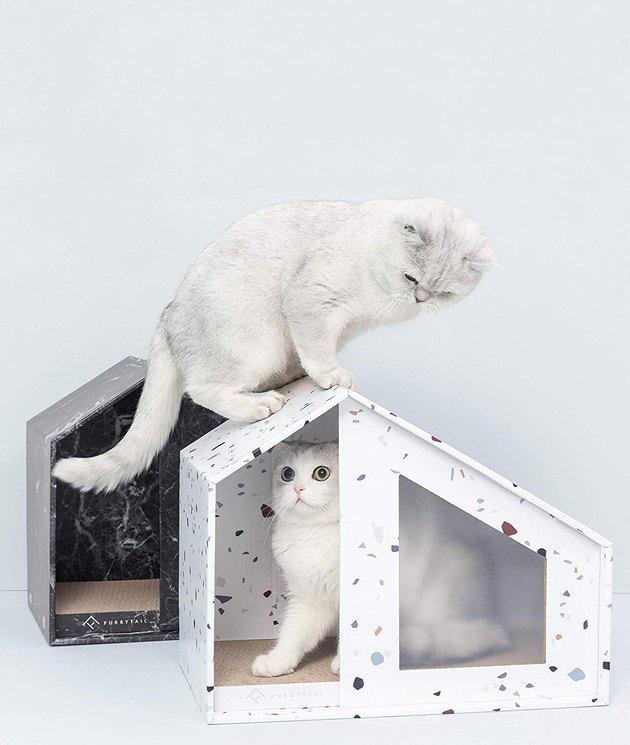 furrytail terrazzo cat house