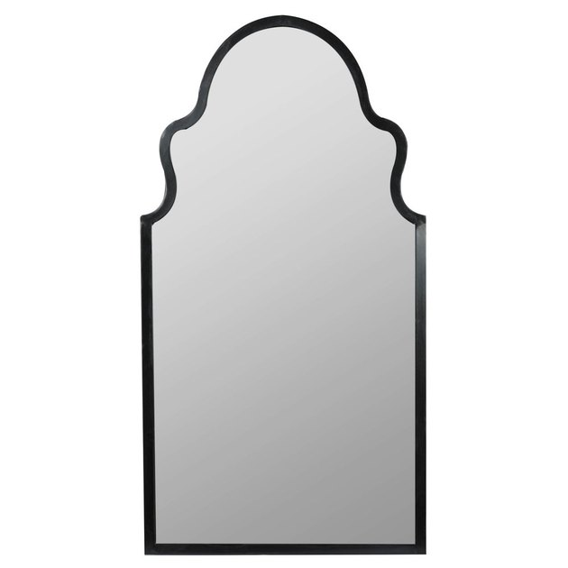 wall mirror with black border
