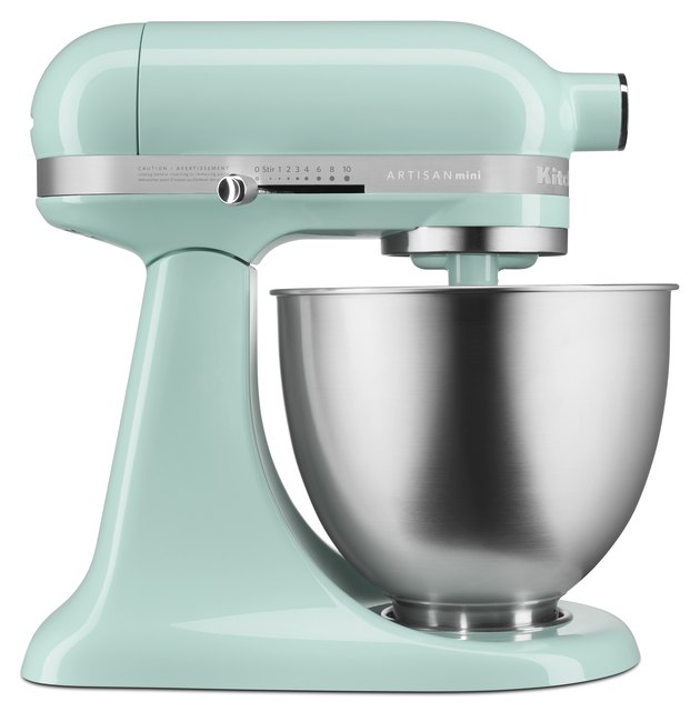 light blue stand mixer