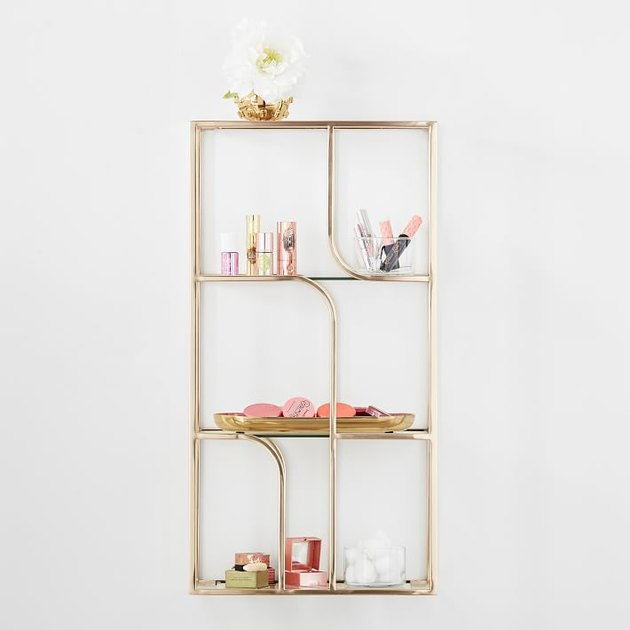 glass organizing shelves