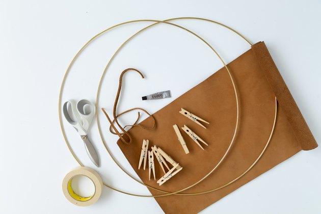 DIY Magazine Rack supplies