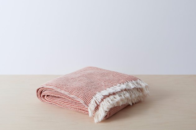 rust textured throw blanket