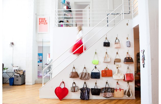 hang handbags on the wall like art
