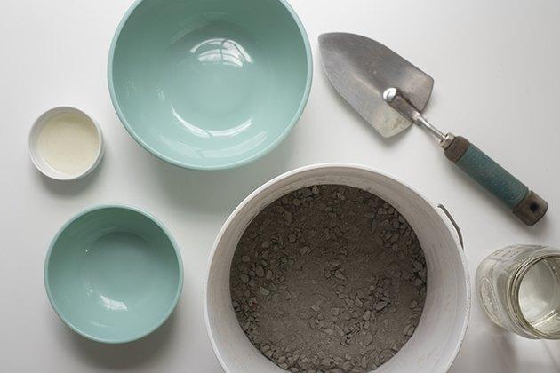 DIY Concrete Bowl supplies