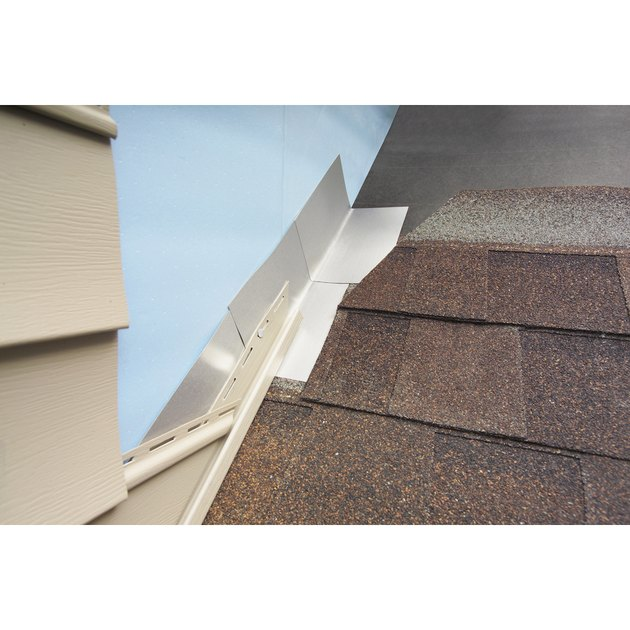 Roof step flashing.