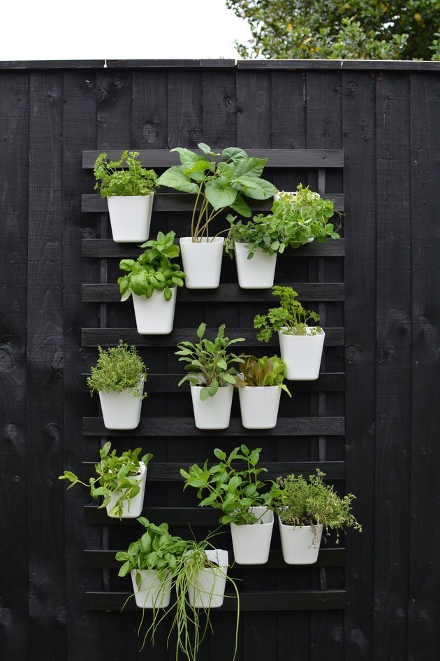 slatted bed base vertical garden