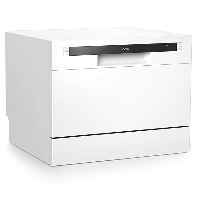 White Kitchen Appliances: hOmeLabs Countertop Dishwasher