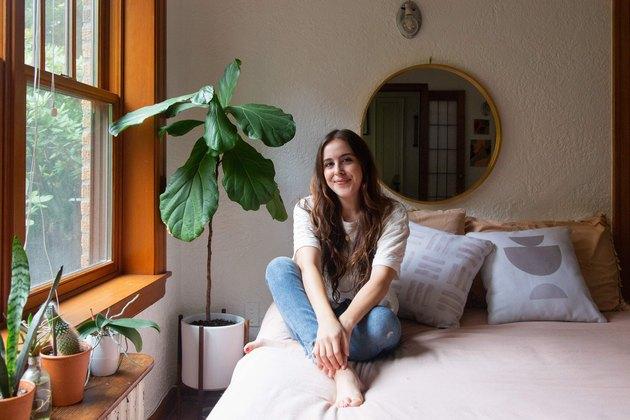 Andrea Pons in her bedroom