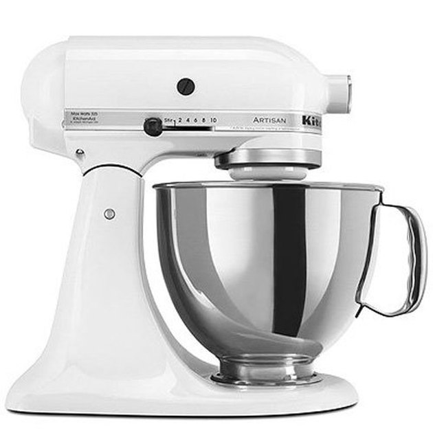 White Kitchen Appliances: KitchenAid Artisan Stand Mixer
