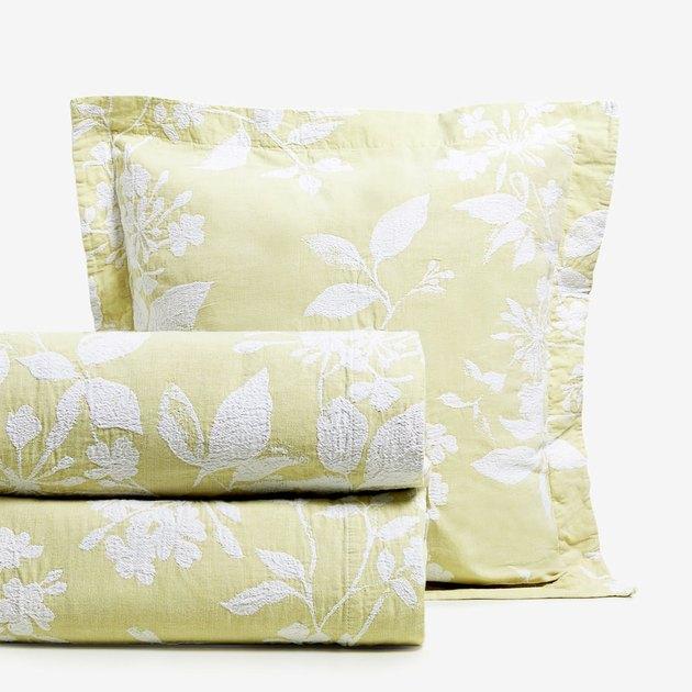 Floral Cotton Jacquard Bedspread