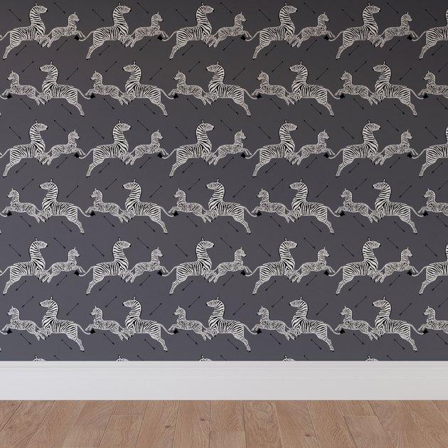 grey zebra and arrow wallpaper