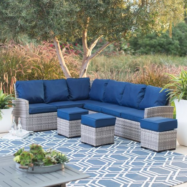 outdoor wicker sectional