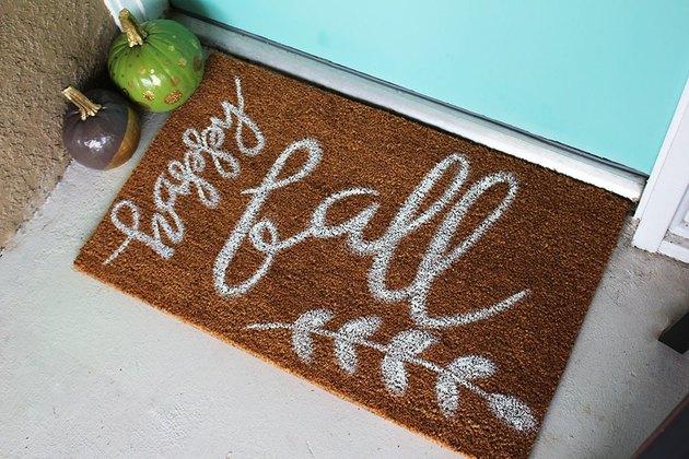 DIY fall inspired doormat