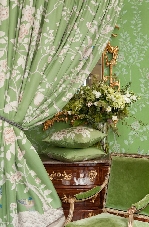 de gournay green fabric