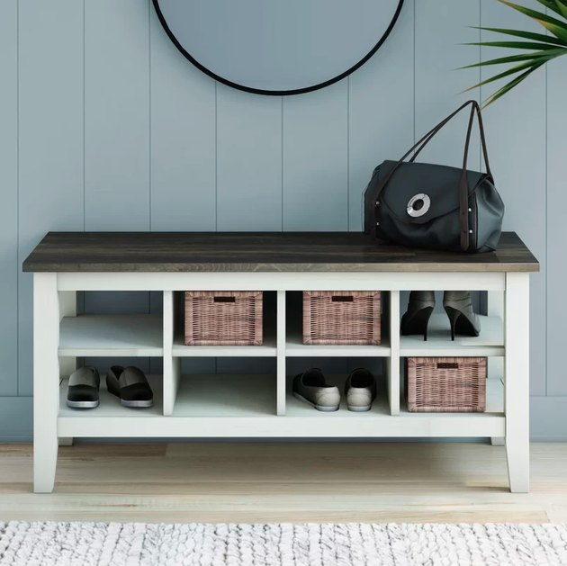 wayfair look peak shoe bench