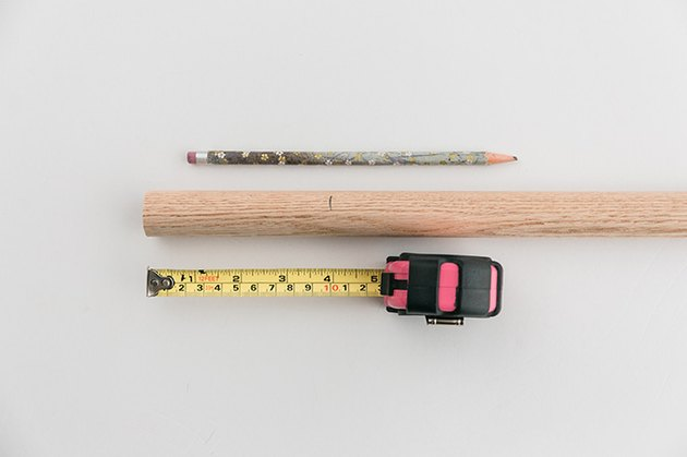 Measure and mark your dowel rod.