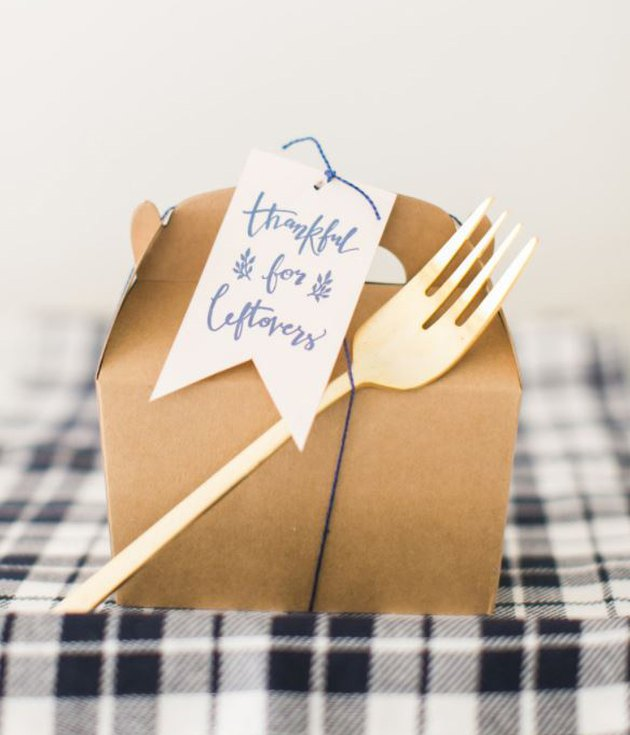 take out gable boxes with printable labels for holiday leftovers
