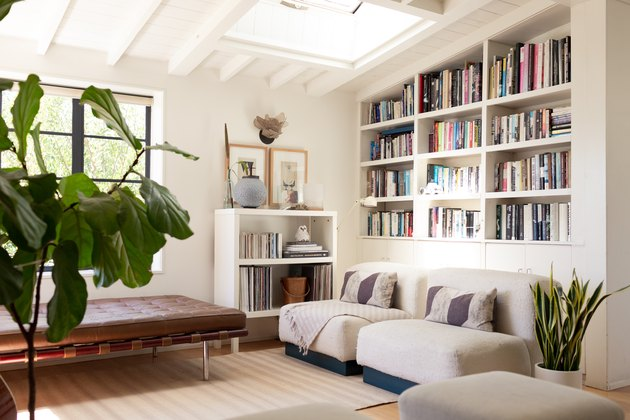 Living room with bookshelf
