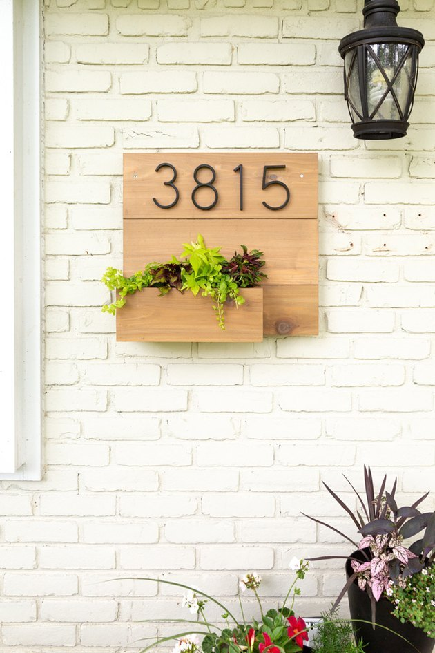 DIY Planter House Number