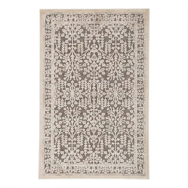 brown and beige area rug