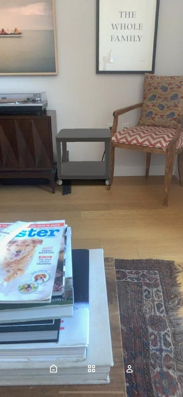 Ikea Place App used to virtually place table in room