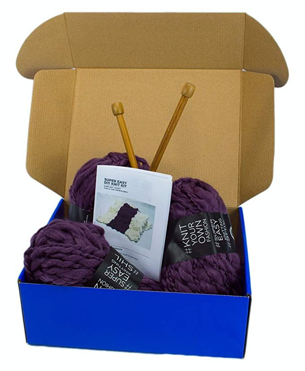 DIY Knitting Blanket Kit