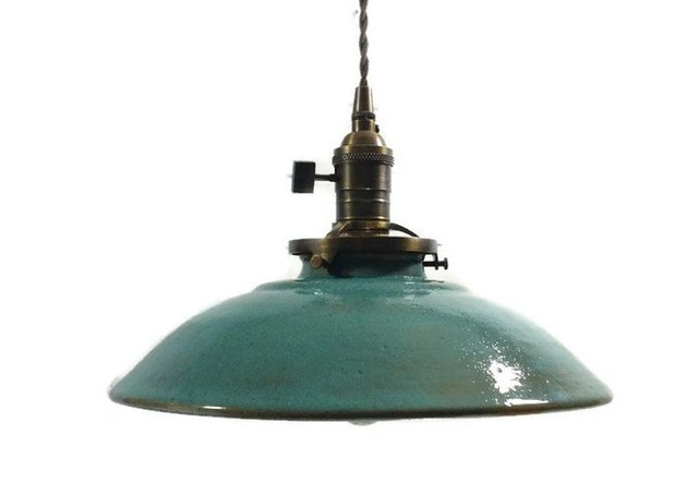 Etsy farmhouse decor with pendant light
