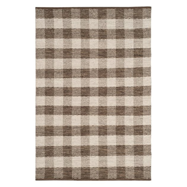 Hayneedle farmhouse decor with buffalo check area rug