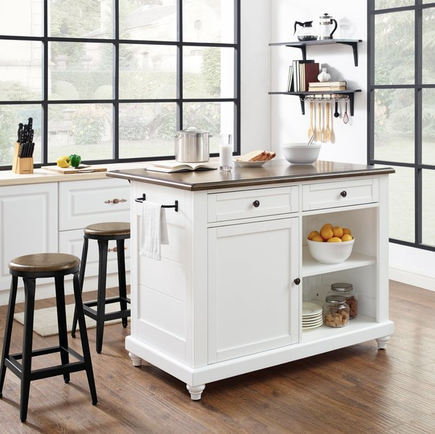 Hayneedle farmhouse furniture with freestanding kitchen island for storage
