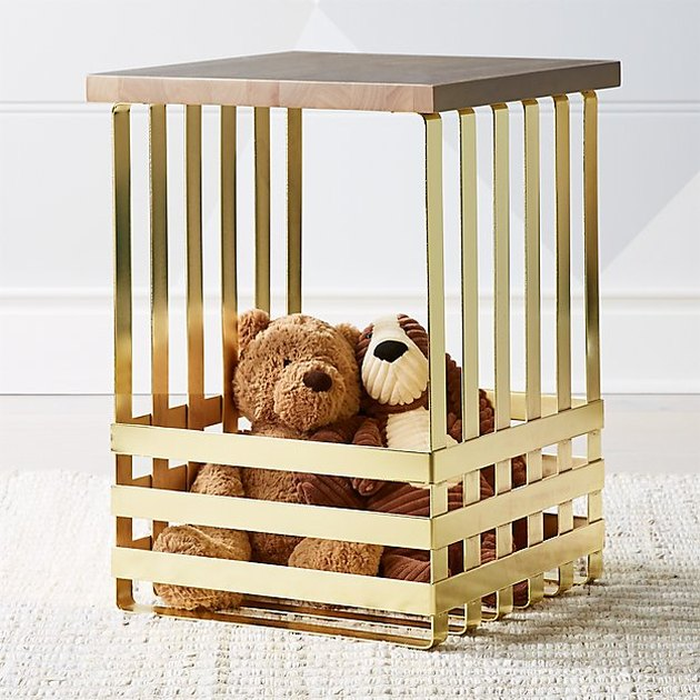 Crate&Kids Geometric Gold Side Table