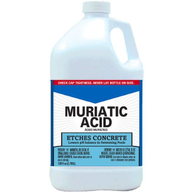 Container of muriatic acid.