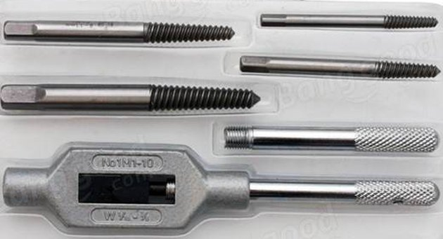 A collection of screw extractors.