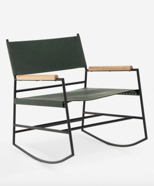 Lulu and Georgia contemporary rocking chair made with leather and wood
