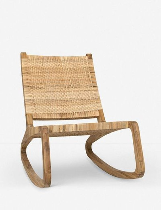 Lulu and Georgia contemporary rocking chair made out of rattan