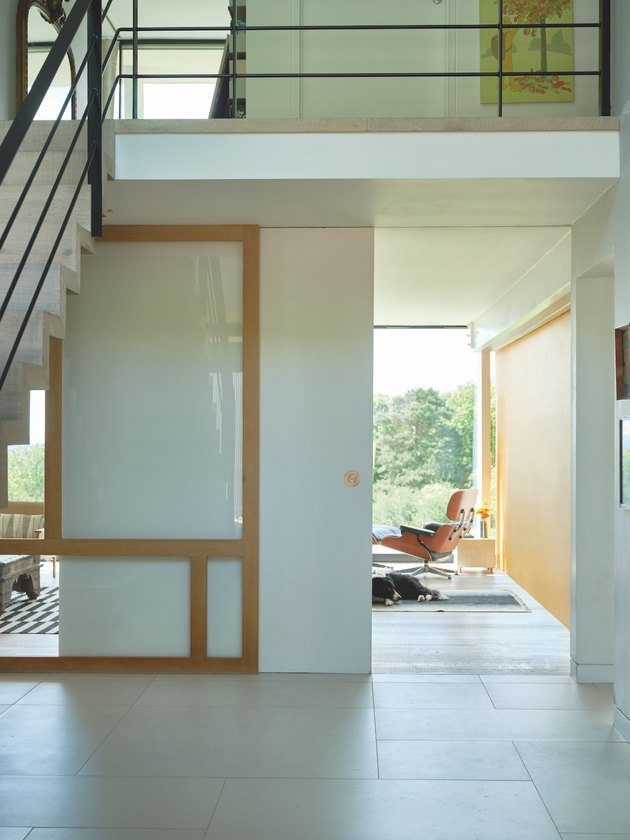 hallway space with white walls