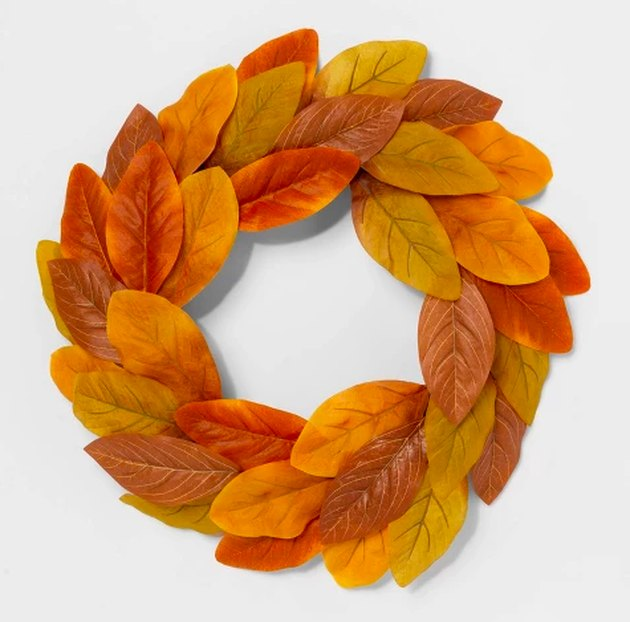 artificial multicolored wreath