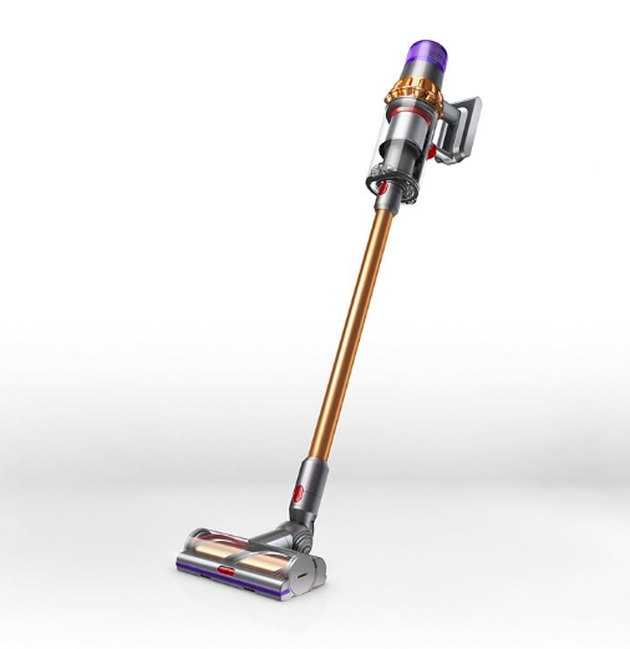 yellow and purple cordless vacuum