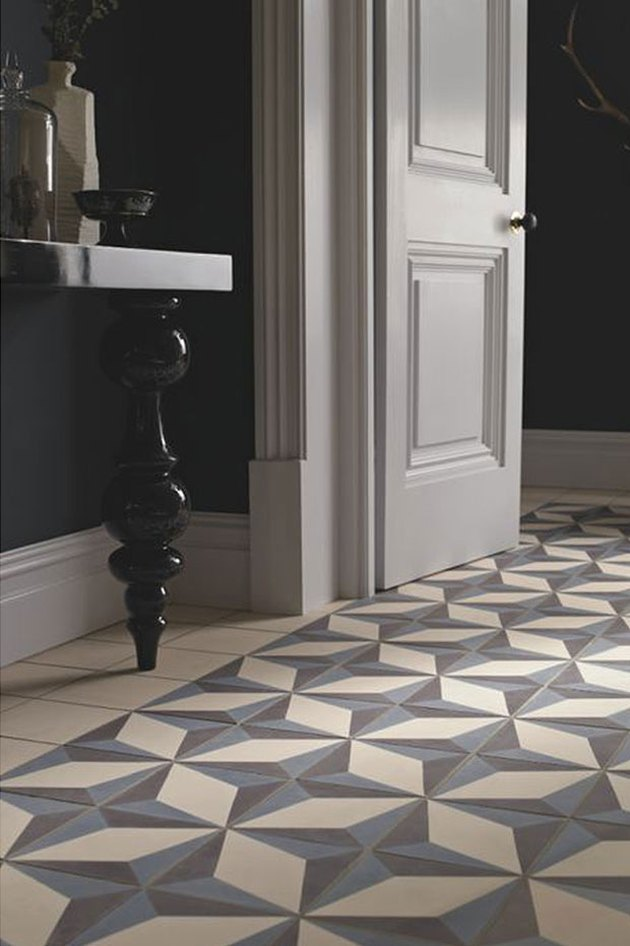 Cement tile add an elegant and modern surprise.