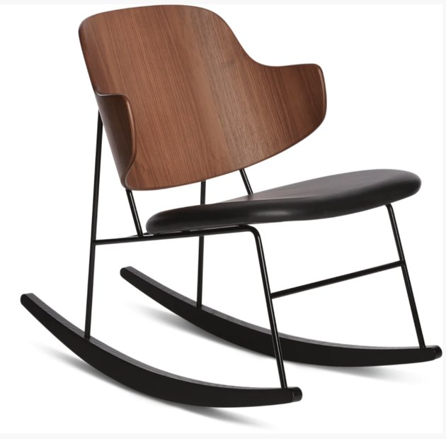 Design Within Reach contemporary rocking chair made out of bentwood and leather