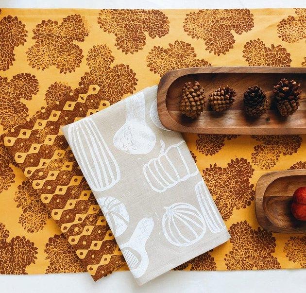 fall linen napkins