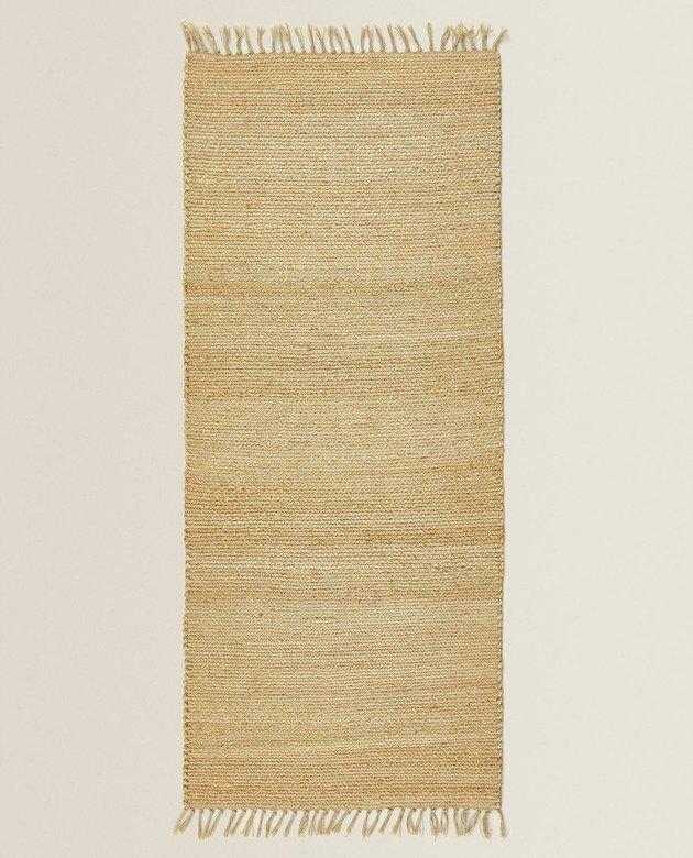 jute rug with fringe