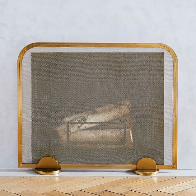 West Elm Deco Fireplace Screen