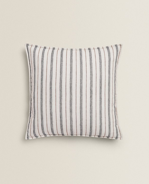 striped faded finish throw pillow