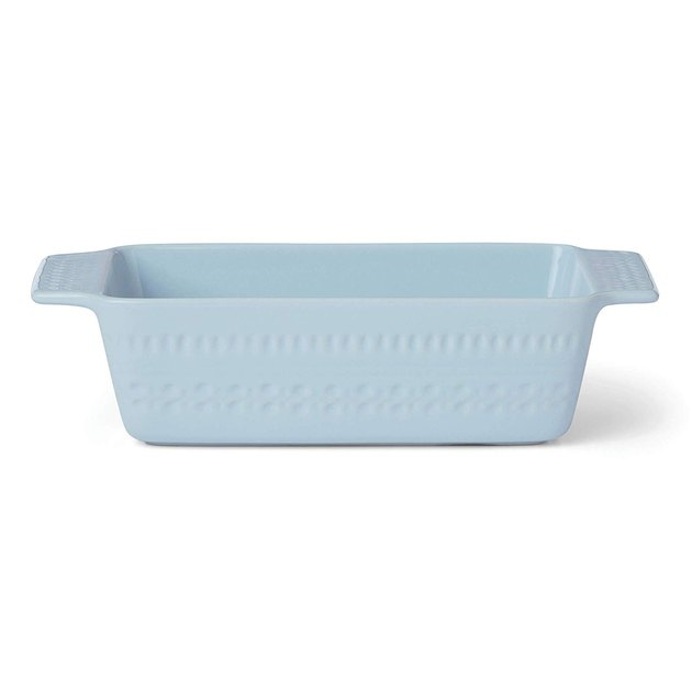 light blue baking pan