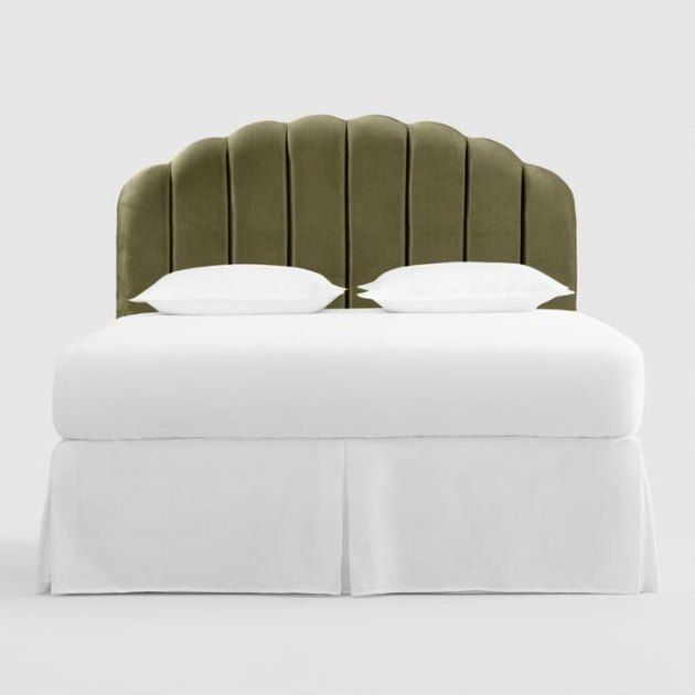 World Market Velvet Channel Deco Headboard