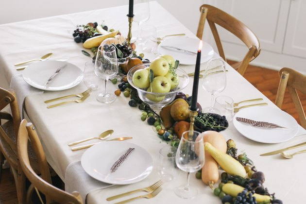 DIY edible Thanksgiving table runner