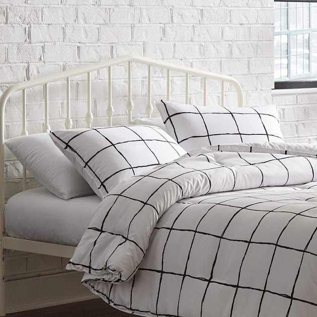 black and white comforter