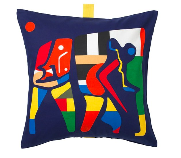 graphic design multicolored cushion cover
